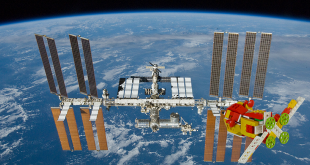 The Soyuz spacecraft approaches the International Space Station