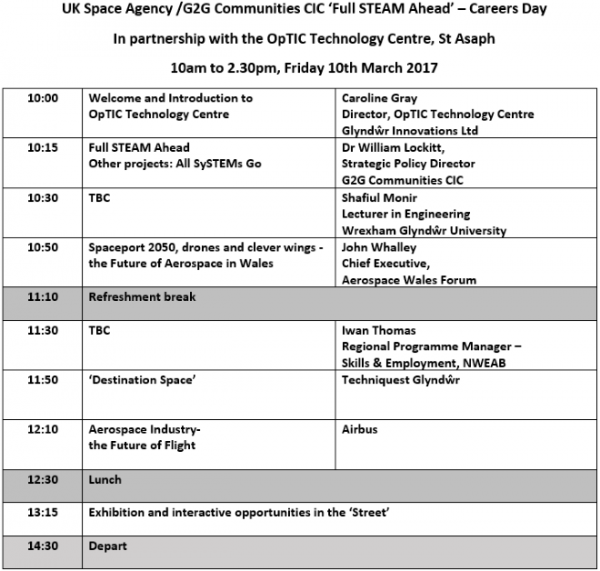 OpTIC Space Careers Day